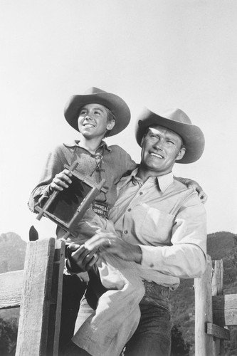 The Rifleman Chuck Connors Johnny Crawford as the McCain's Poster