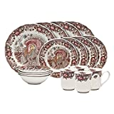 Johnson Brothers 16-Piece His Majesty Dinner Set, Multicolored
