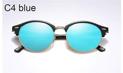 KOMNY Gafas de Sol polarizadas de Las Mujeres Gafas de Sol Redondas Frescas Gafas de conducción