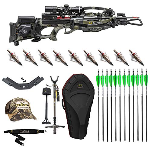 Tenpoint Nitro XRT Crossbow Elite Package, EVO-X Marksman Scope, Sling, STAG Hard Case and ACUdraw PRO Cocking Device (CB19005-2193)