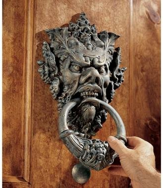 Emesh The Greenman Iron Plant God Door Knocker Sculpture (The Digital Angel)