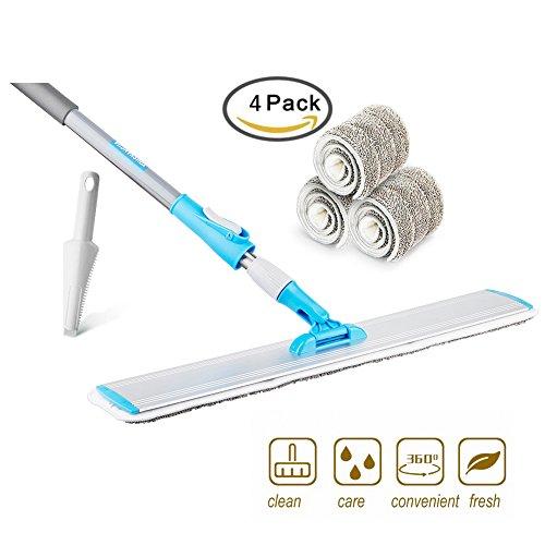 """Wet Mop 24/"""" Microfiber Mop Heavy Duty Floor Mop Aluminum Mop Adjustable Steel 4"""