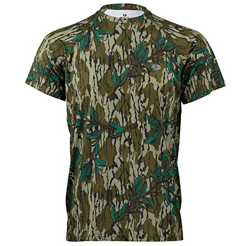 Mossy Oak Mens Camo Short Sleeve Performance Tech Tee Hunting Shirt Available in Multiple Camouflage Patterns