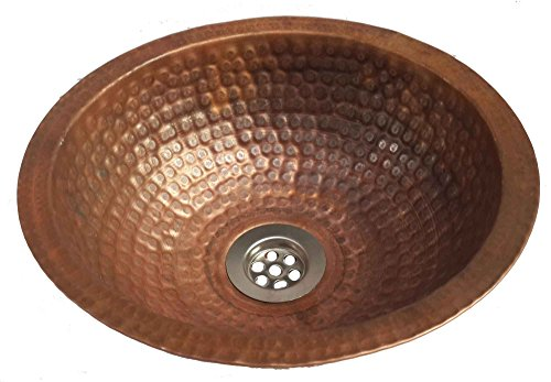 Discover Bargain Egypt gift shops 12 Fire Burnt Small Handmade Copper Toilet Bathroom Lavatory Sink...