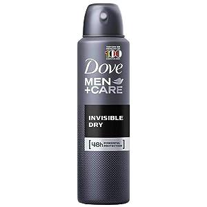 6 Cans of Dove Men+Care Invisible Dry 150ml Anti-Perspirant Anti-Transpirant Spray