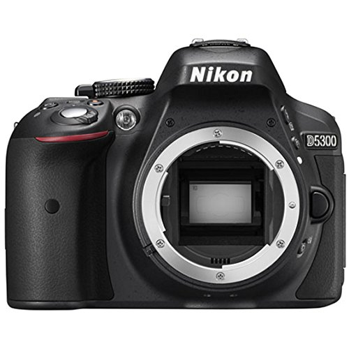 Nikon D5300 24.1MP DX-Format Digital SLR Camera with AF-S DX NIKKOR 18-55mm f/3.5-5.6G VR II Lens - Black (Certified Refurbished)