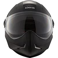 Steelbird 143453 Adonis Classic Full Face Helmet (Black, L)
