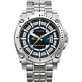 Bulova Men's Designer Watch Stainless Steel Bracelet - Grey Dial Precisionist Wrist Watch 96G131