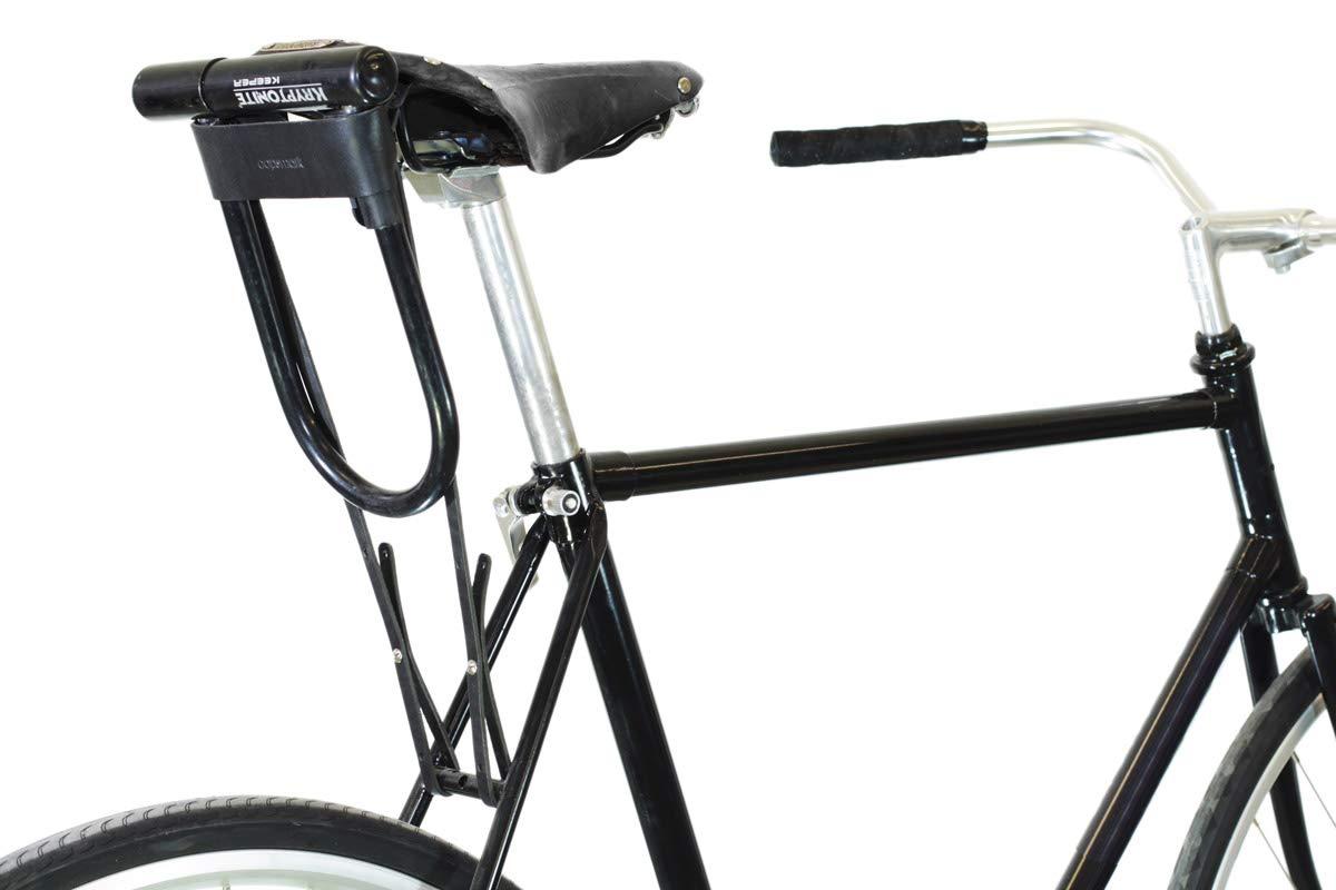 U-Lock Holster for Kryptonite Bicycle Locks – Black Leather