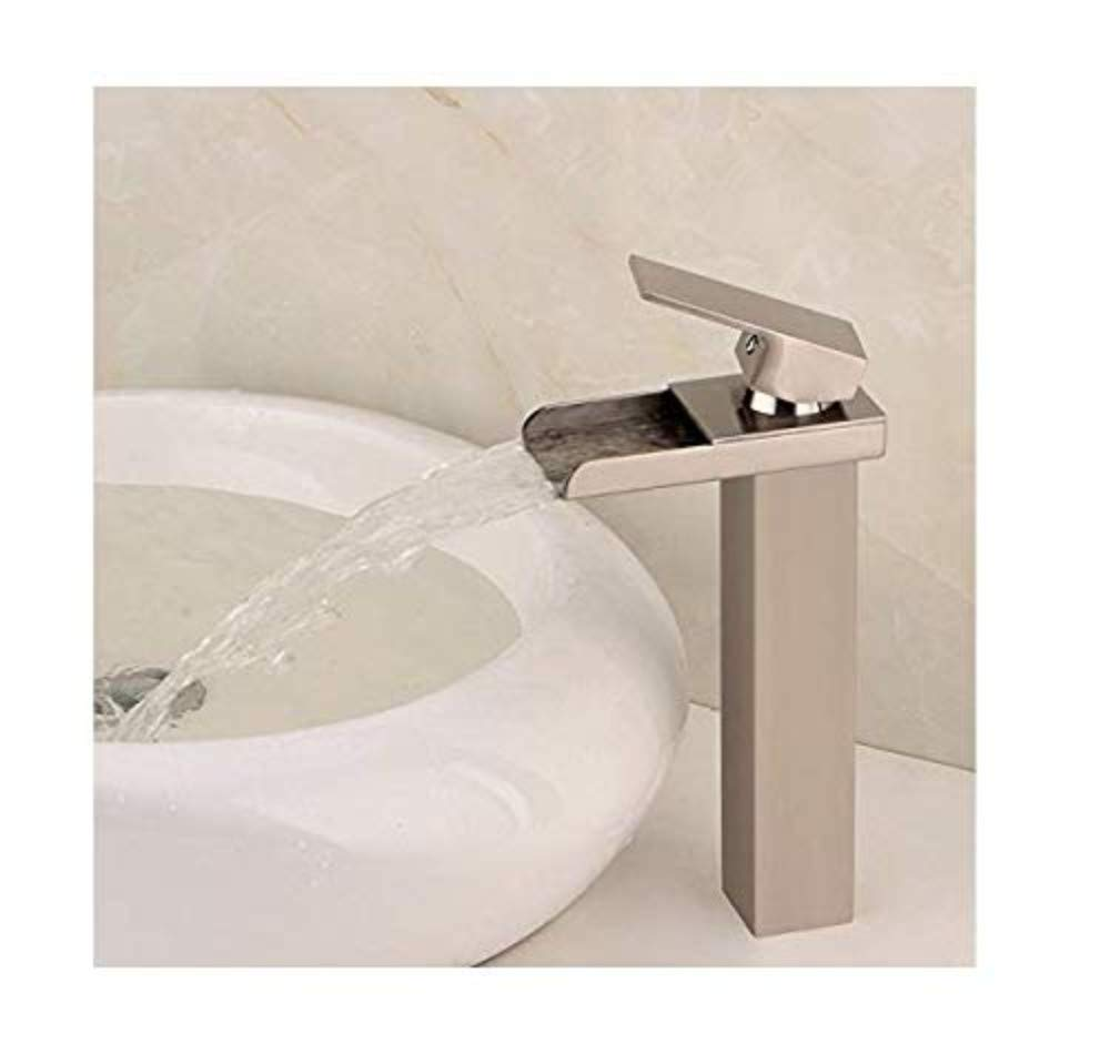 Chrome-Plated Vintage Bathroom Brass Cold Basin Faucet Copper Wash Basin Faucet Single Hole in The Sitting Basin Faucet Bathroom Faucet