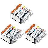 Inkcool 30 (6 each) Pack Non-OEM Ink for pgi-225 CLI-226 Pixma ip4820 iP4920 MG5120 MG5220 MG5320 MG6120 MG6220 MG8120 MG8220 MX882 Printer (6LB/6SB/6C/6Y/6M)