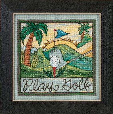Play Golf Sticks Cross Stitch Kit
