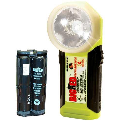 Pelican Big Ed 3750 Rechargeable Flashlight (Yellow) (Big Ed Flashlight)