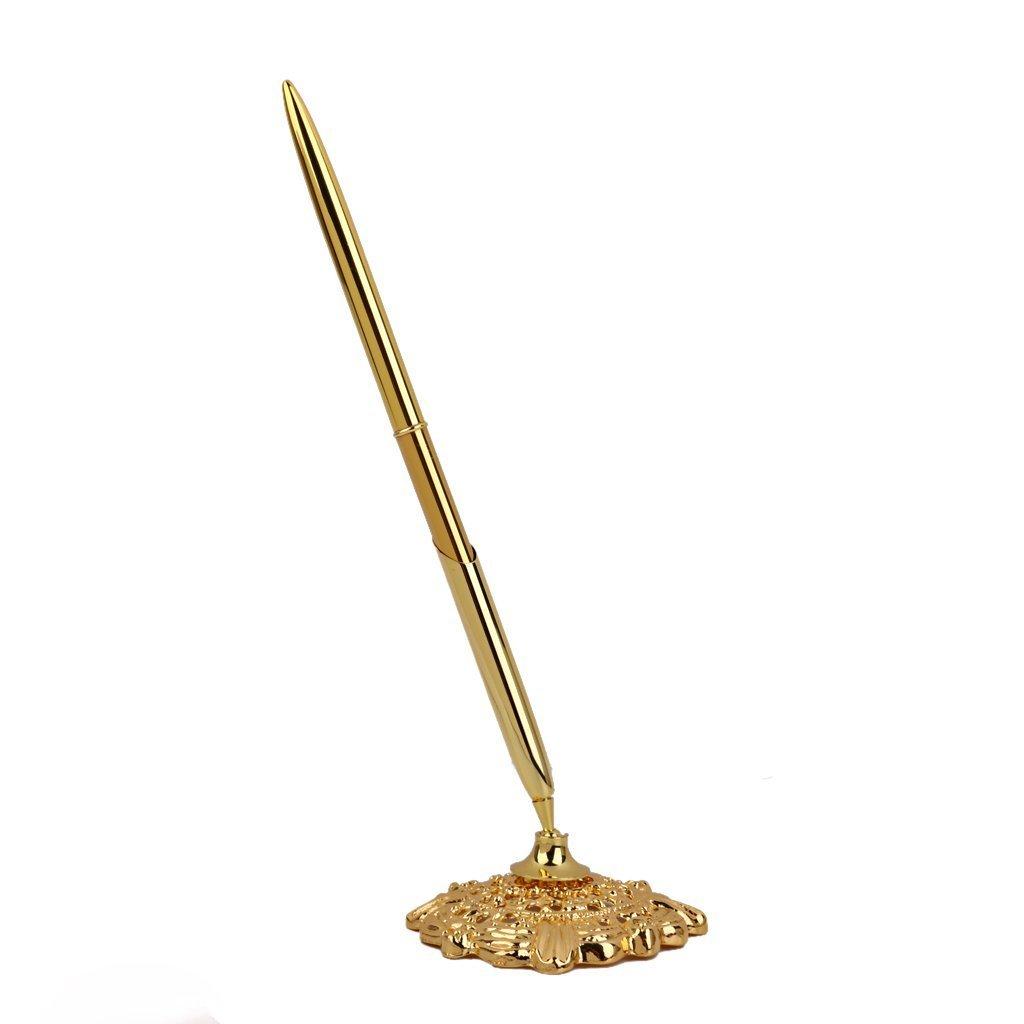 jushen 16cm Büro Hochzeit Gäste Stift mit Ständer–gold