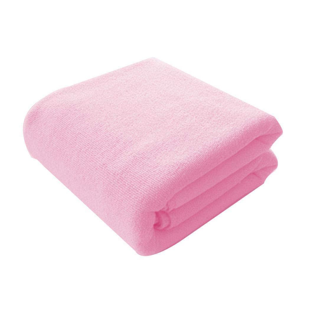 Queind Soft Solid Microfiber Super Absorbent Bath Towel Beach Activity Towel Bath Sheets