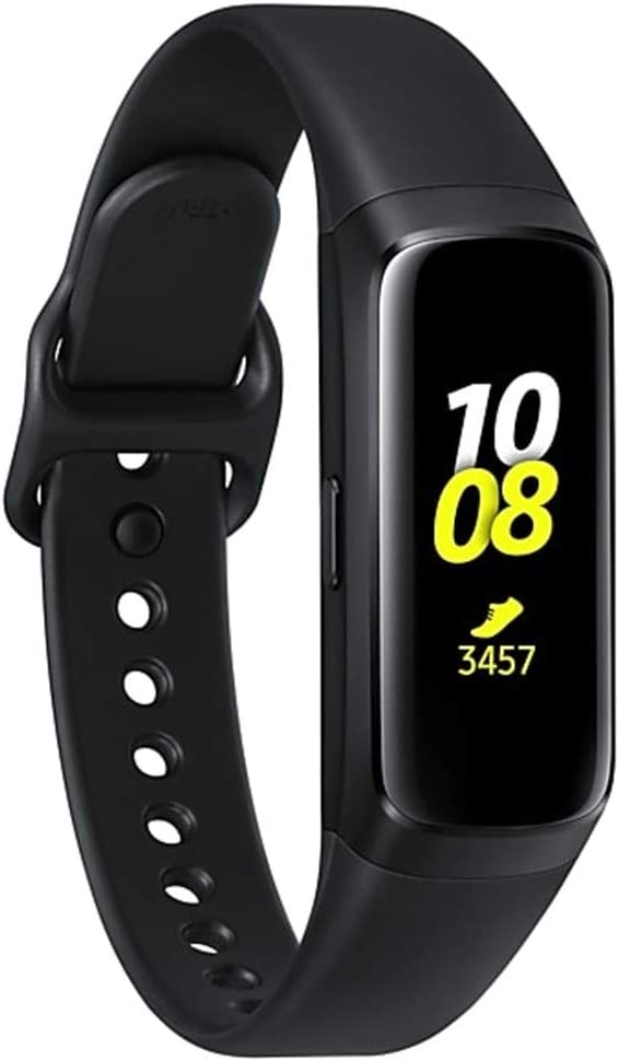 Samsung Galaxy Fit 2019, Smartwatch Fitness Band, Stress & Sleep Tracker, AMOLED Display, 5ATM Water Resistance, MIL-STD-810G, Bluetooth Active ...