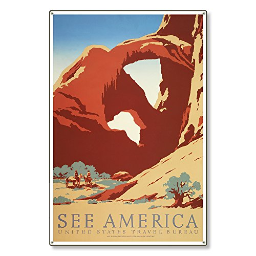 Large Metal Wall Art Decor Sign | Arches National Park Utah UT