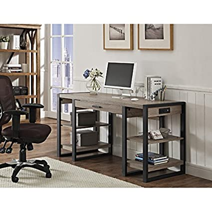 industrial home furniture. WE Furniture 60\u0026quot; Industrial Home Office Storage Desk - Driftwood F