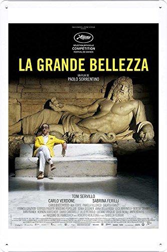"""Tin Poster Movie Film Sign 8""""x12"""" La Grande Bellezza Ver2"""