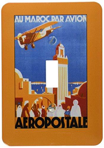 3dRose lsp_172095_1 Au Maroc Par Avion Aeropostale Air Travel Poster Toggle Switch by 3dRose