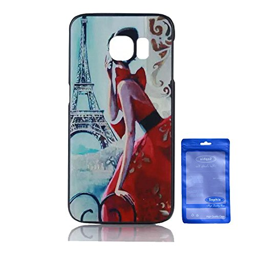 Galaxy S6 Edge Case, Creative Artistry Customized Funny PC Hard Back Cover Case for Samsung Galaxy SVI Edge (Girl with Red Dress)