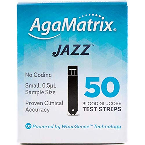 WaveSense JAZZ Test Strips - 50 Pack by AgaMatrix