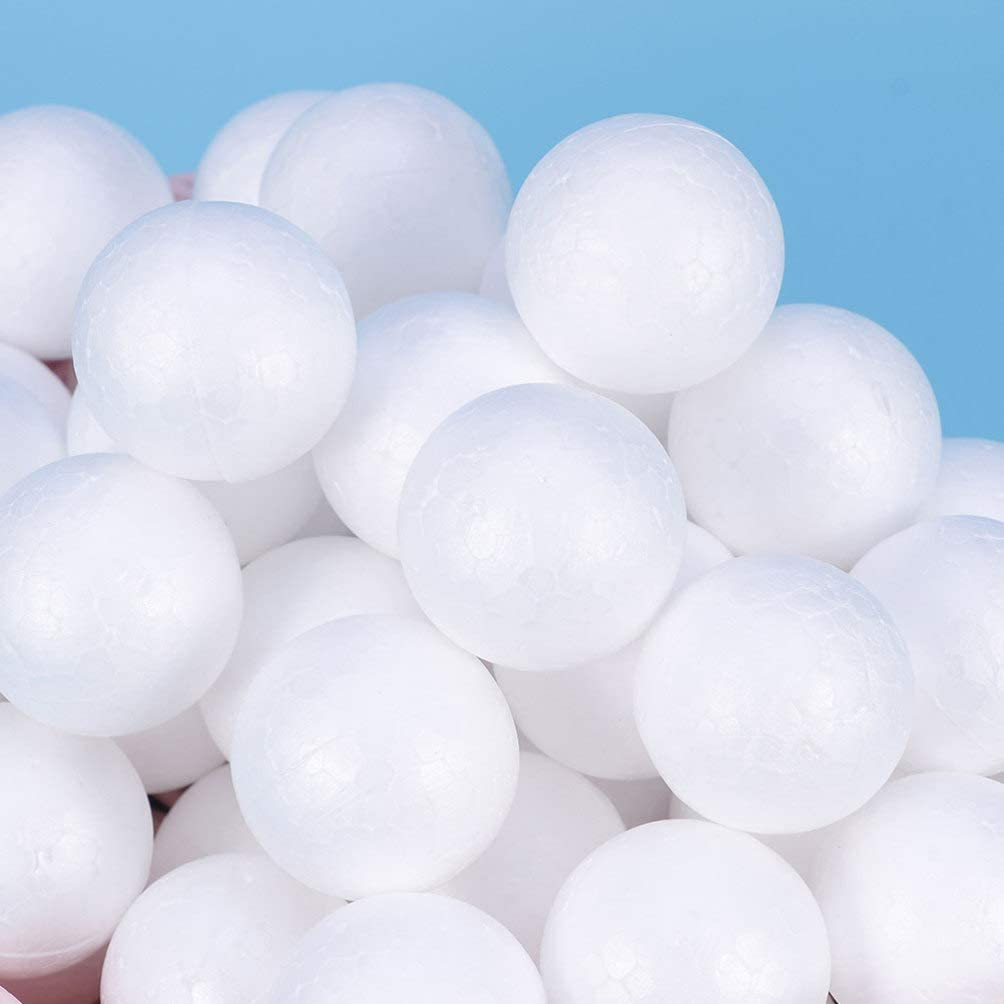 Polystyrene Craft Balls for Arts /& Crafts Floral Wedding Decor Science Modeling and School Projects Solid 2cm ARTIBETTER 200pcs Foam Balls
