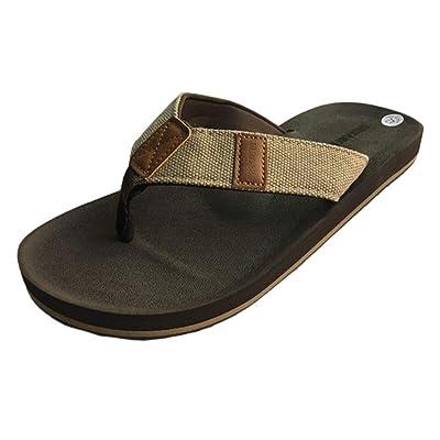 URBANFIND Men's Flip Flops Retro British Style Slippers Outdoor Indoor Sandals | Sandals