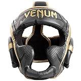 Venum Elite Headgear - Dark camo/Gold