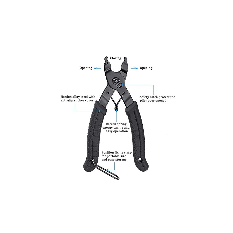 Oumers Bike Link Plier, Chain Plier Missing Link 2 in 1 Opener Closer Remover Plier/Bicycle Chain Plier Compatible with All Speed Chains Repair, Link