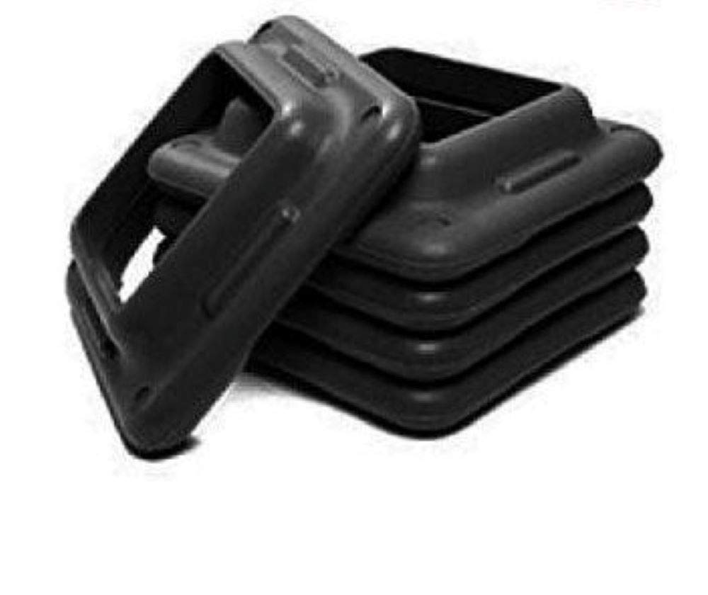 Element Fitness Aerobic Step Risers 10 Pack Black Step Risers for Exercise Steps – Stair Riser for Exercise Step Platform – Great for Step Aerobics