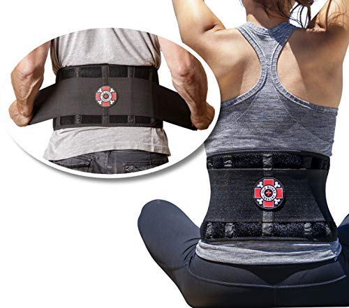 Old Bones Therapy Back Brace - Immediate Pain Relief for Lower Back Pain - Adjustable Back Support Belt with Reinforced Lumbar Support for Men & Women (Back Brace, XXL)
