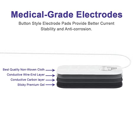 MEDVIVE Rechargeable Tens Unit Muscle Stimulator, 2nd Gen 16 Modes & 8  Upgraded Pads for Natural
