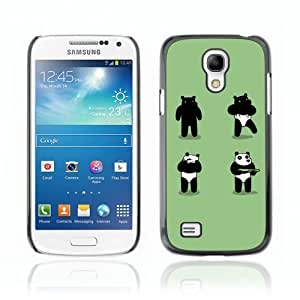 Designer Depo Hard Protection Case for Samsung Galaxy S4 Mini / Panda Costume Bear Robber