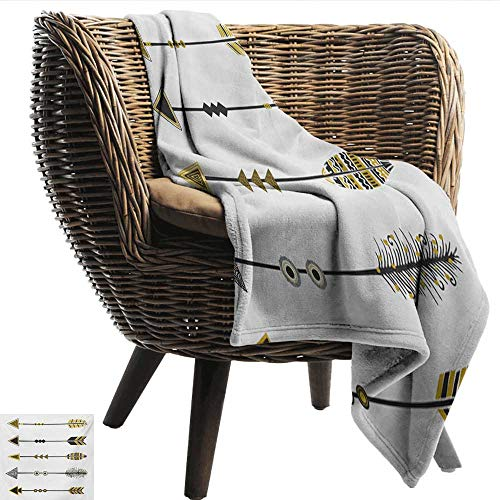 (Arrow Travel Blanket Old Fashioned Arrow Figures Tribal Vintage Native Primitive Country Ethnic Elements Recliner Throw,Couch Throw, Couch wrap 84