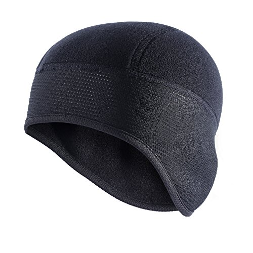 - QINGLONGLIN Skull Cap/Helmet Liner/Running Beanie - Thermal Black for Winter Outdoor Sports, Ear Covers