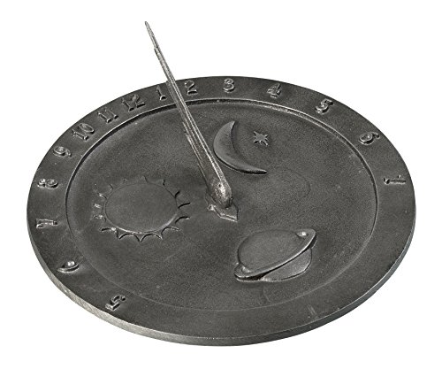 Montague Metal Products Celestial Sundial in Swedish Iron Finish, 10.5