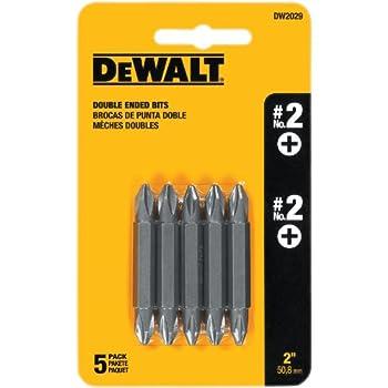 DEWALT DW2029 #2 Phillips Double Ended Screwdriver Bit (5-Pack)