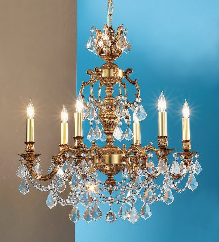 Classic Lighting 57385 FG CP Chateau Imperial, Crystal, Chandelier, 18