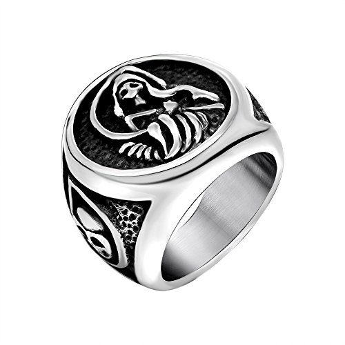 Son of Anarchy Stainless Steel Skull Skeleton Ring Band Jewelry,sizes 7-12 (7) ()