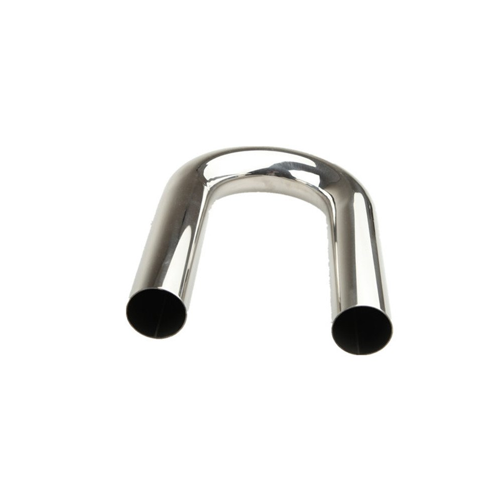 2.5' 63mm 180 Degree Intercooler Piping Stainless Steel Mandrel Bend L=610mm - UK Shipping AdlerSpeed