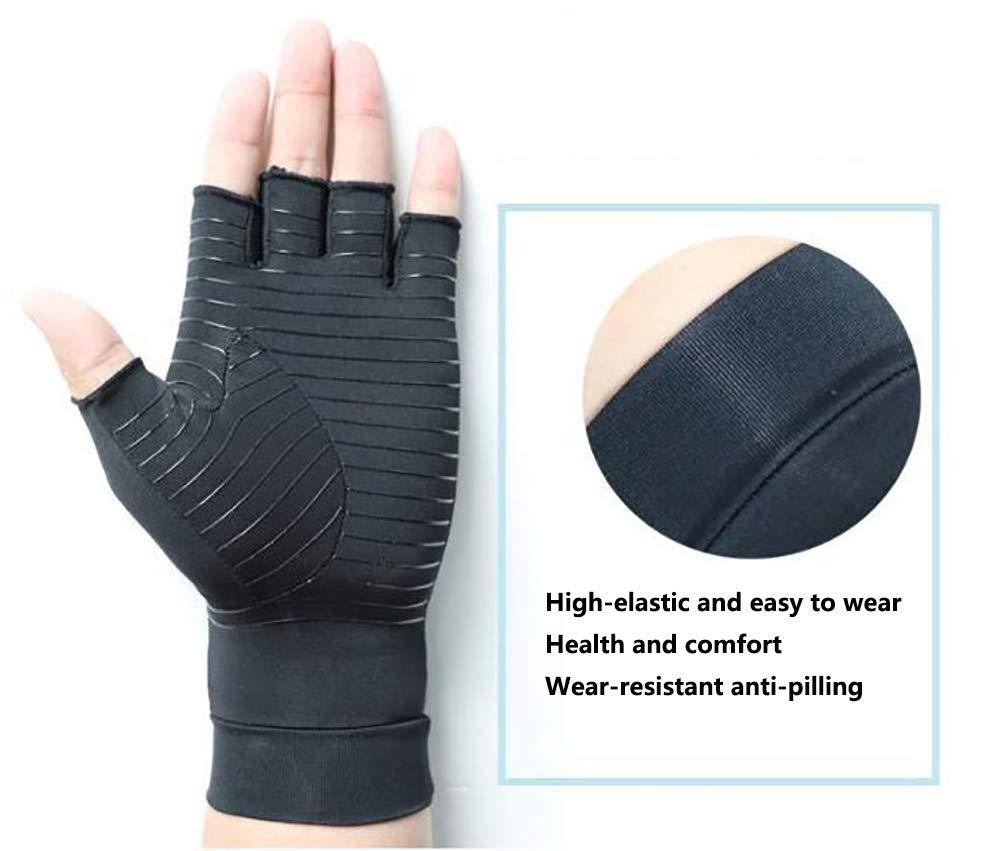 sin dedos antiartritis Benrise terapia de compresi/ón cobre Guantes de silicona antideslizantes para videojuegos con dise/ño transpirable para un ajuste perfecto y c/ómodo
