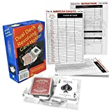All7s Bundle - Canasta Bicycle Playing Cards Game Set That Includes 2 Deck of Canasta Cards with Point Values, a Revolving Tray Holder, and 50 Sheet Score Pad.