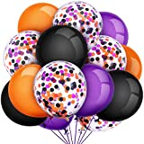 Tatuo 80 Pieces Halloween Balloons Set Confetti Balloons Latex Balloons for Birthday Baby Shower Wedding Graduation 4th of July Decorations, 12 Inch (Black, Orange, Purple): more info