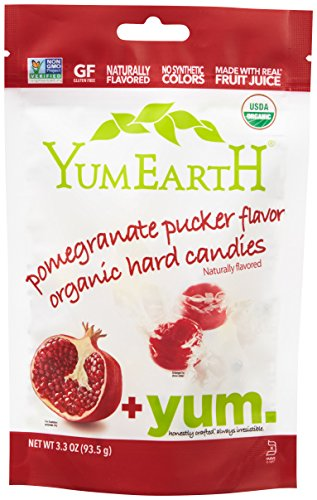 YumEarth Organic Pomegranate Pucker Drops, 3.3 Ounce Pouches ( Packaging May Vary ) (Pack of 6)