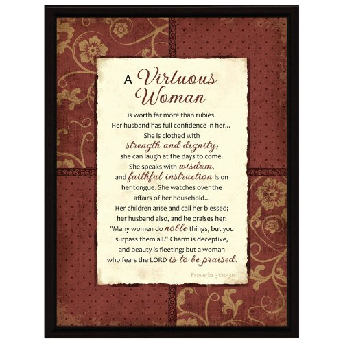 Virtuous Woman Wood Frame Plaque with Easel