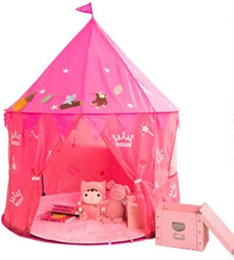 Arbas Casitas Infantiles Tela,Tienda Campaña Infantil,Casita Infantil,Carpa para Niños Plegable, NiñosLarge-Pink