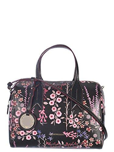 EMPORIO ARMANI LINEA BOSTON BAG Y3A084YH17A Nero con motivo floreale Venta De Ebay En Venta pN4csh7
