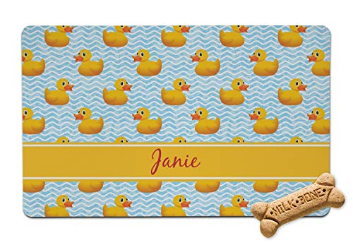RNK Shops Rubber Duckie Pet Bowl Mat (Personalized)