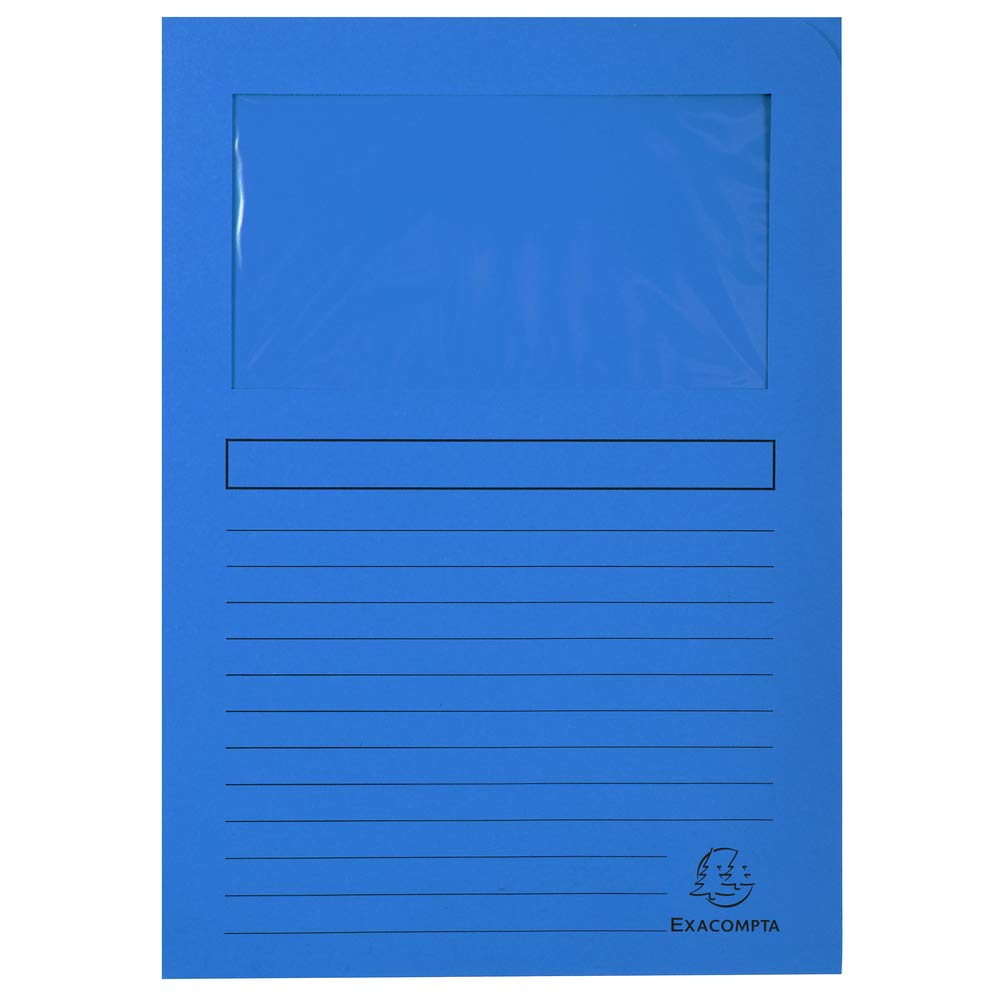 22x31 cm Arancio 100 Pezzi Exacompta 50104E Cartelle a L